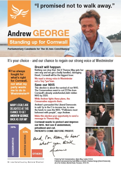 Andrew George 2017 Election - Insert