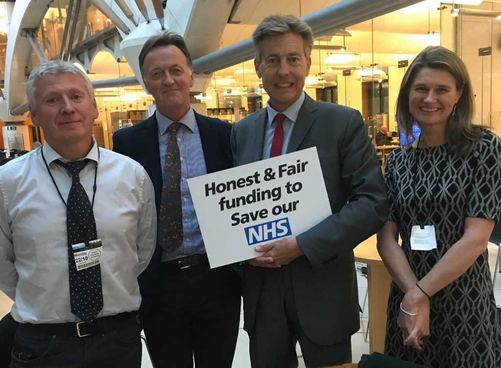 Copy of a picture of campaign team with one of the regions MPs, former Health Minister Ben Bradshaw MP.