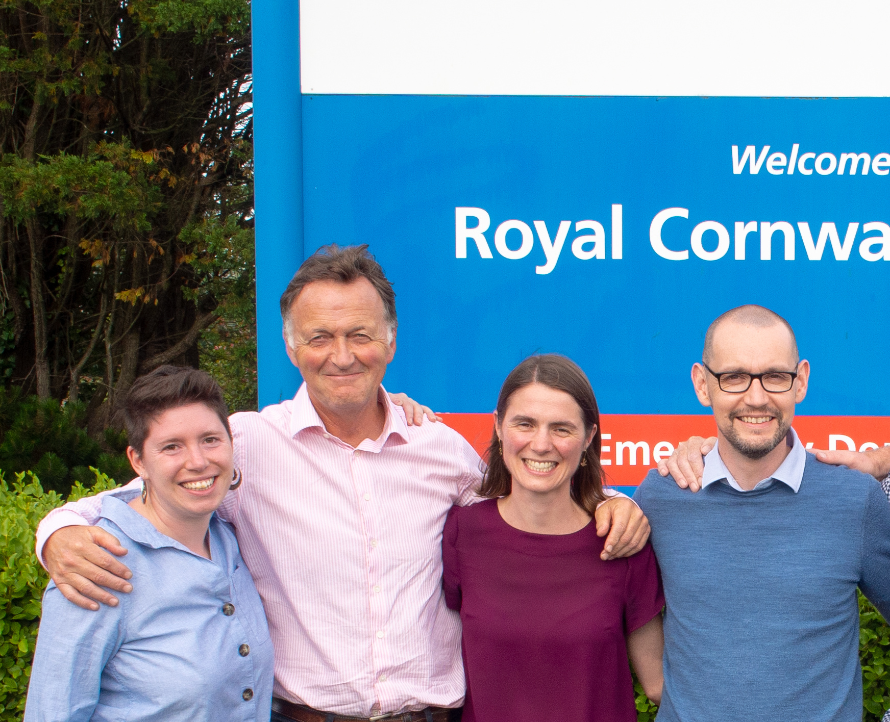 Andrew George with team at the Royal Cornwall Hospital